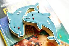 Happy Dolphin Decorated Sugar Cookies Sugar Lane Bake Shop