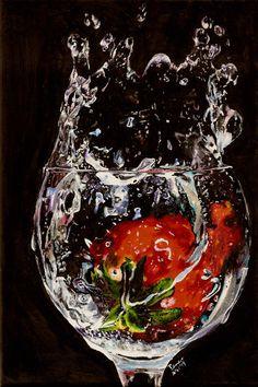 Splash 1 of 3 by SpecialNightStar on deviantART - Acrylic on Canvas