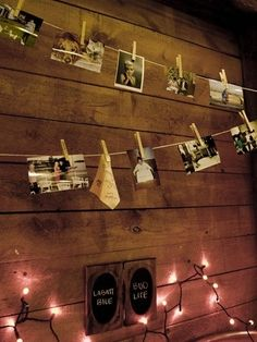 I like this idea for hanging pictures! by ckag
