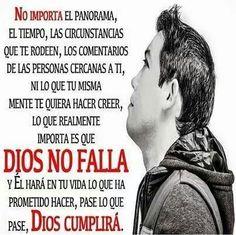 Dios no falla...