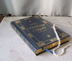 Wuthering Heights Leather Bound Book Emily Bronte Gold Gilt Edges Classic 2007