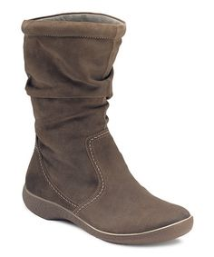 Take a look at this Dark Clay Shiver Suede Slouch Boot by ECCO on #zulily today!