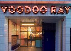 Voodoo Rays pizza slice bar by Gundry & Ducker
