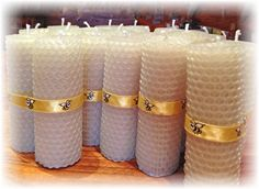 How to make beeswax candles.