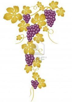 Grape Leaves Clip Art Free | grape vines clipart-apple-tree- cached jun blue food fruit wine grapes ...