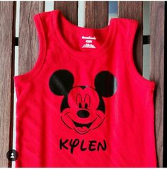 Custom order Mickey Mouse  shirt with name. Follow our shop on istagram  @ Sugarsweetakidsboutique