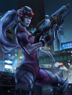 Widowmaker by AgusSW.deviantart.com on @DeviantArt - More at https://pinterest.com/supergirlsart/ #overwatch #sniper #fanart