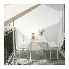 IKEA PS 2014 Banc, intérieur/extérieur, blanc, pliable - IKEA