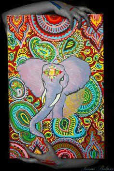 indian elephant painting | Flickr - Photo Sharing!