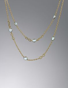 """Confetti Necklace, Blue Topaz"""