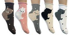 JJMax Women's Sweet Kitties Bunnies Bears Roll Cuff High Ankle Socks Set (5 Pair) JJMax http://www.amazon.com/dp/B00PZCH8GW/ref=cm_sw_r_pi_dp_GC-Jub15J9087