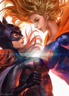 The Very Best of Women in Comics — Two-fer Tuesday: Batgirl & Supergirl by kamiyamark Marvel Dc Comics, Anime Comics, Heros Comics, Comic Manga, Dc Comics Art, Dc Heroes, Dc Comics Girls, Image Comics, Marvel Art