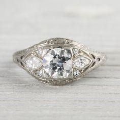 Vintage Edwardian .80 Carat Engagement Ring by ErstwhileJewelry