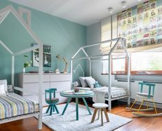 Cocinas de diseño veraniego,sabores y estilos al aire libre. Rope Ladder, Round Kitchen, Kids Sleep, Baby Room Decor, Cool Kids, Toddler Bed, Kids Room, Interior Design, Room Interior