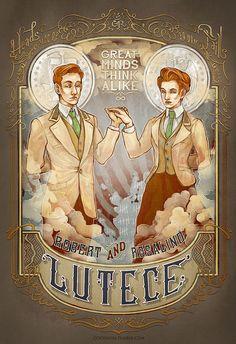 BioShock Lutece  Coey Kuhn digital print by 13crowns on Etsy, $18.00