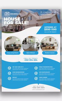 Real Estate Flyer Print Template by andrewtimothy on Envato Elements Real Estate Flyer Template, Psd Flyer Templates, Print Templates, Real Estate Flyers, Real Estate Marketing, Flyer Printing, Street Names, Website Layout, Cozy Living Rooms