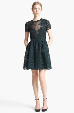 Valentino Embroidered Lace Dress available at #Nordstrom