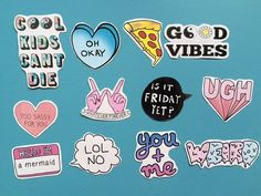 Tumblr stickers (pack of 12) - laptop stickers / iphone sticker / fun stickers / teen stickers / decorative stickers