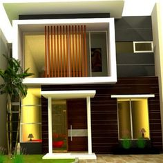 Wow ! Ini Dia Model Rumah Minimalis 2 Lantai Paling Keren House Paint Design, Paint Designs, House Painting, Garage Doors, Interior, Outdoor Decor, Home Decor, Modern, Type