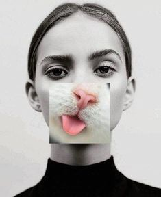 New funny face portrait photography ideas Photomontage, Creative Photography, Portrait Photography, Photography Collage, Surrealism Photography, Photography Magazine, White Photography, Montage Photography, Distortion Photography