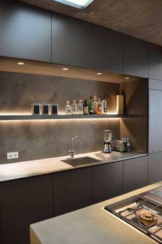 Kitchen Room Design, Kitchen Cabinet Design, Kitchen Sets, Modern Kitchen Design, Interior Design Kitchen, Kitchen Decor, Interior Ideas, Interior Inspiration, Kitchen Inspiration