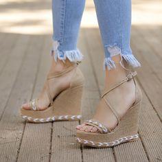 White Beige, Tabata, Fasion, Peep Toe, Like4like, Heels, Womens Fashion, Heel, Women's Fashion