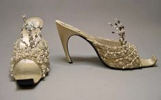 Evening Slippers, 1960. House of Dior. Roger Vivier.