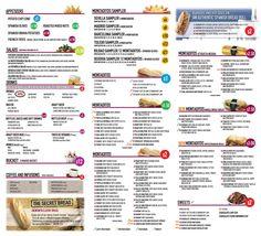 100 Montaditos menu