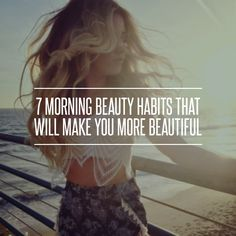 7 #Morning #Beauty #Habits That Will Make You More Beautiful ... #Spray