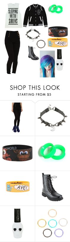 Ordinary day wear for emos by michieisbattling on Polyvore featuring LoveSick and Hot Topic