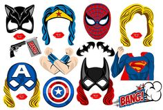 Hey, I found this really awesome Etsy listing at https://www.etsy.com/listing/251941305/super-hero-woman-photo-booth-props