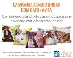A Dom Gato acredita que todos podem colaborar com o bem estar animal pensando nisso idealizamos uma campanha em conjunto com a @ampa_mirassol  onde confeccionamos almofadas com estampas dos animais da associação. O objetivo é tornar os cães conhecidos para possíveis adoções e arrecadar recursos para mantê-los. As almofadas podem ser compradas na sede da AMPA Mirassol em eventos da associação na loja física da Dom Gato ou pelo site http://ift.tt/2iQgBYx onde é possível o envio para todo o…