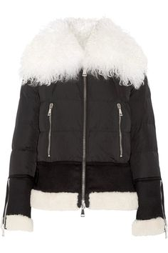 MONCLER  Kikilia shearling-trimmed quilted shell down jacket