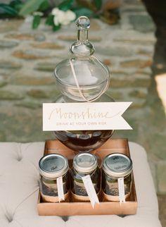 Charming way to serve Moonshine!