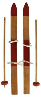 Children's Skis w/ Poles, Pair