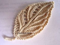 Tina's handicraft : crochet flowers for irish lace Crochet Leaf Patterns, Crochet Leaves, Crochet Doilies, Crochet Flowers, Freeform Crochet, Thread Crochet, Knit Crochet, Crochet Hats, Irish Lace