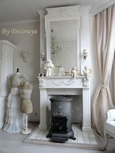 Decor, Beautiful Space, House Design, Cottage Style, French Country Decorating, Furniture Decor, House Styles, Shabby Chic Fireplace, Seaside Cottage Style