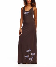 Look what I found on #zulily! Coffee Dragonfly Organic Maxi Tank Dress by Synergy Organic Clothing #zulilyfinds
