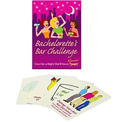 When you know the bachelorette adores being at the center of the action, our Bachelorette's Bar Challenge Game is perfect for her! Challenge her to a variety of hilarious dares for a fun-filled night with her whole bridal party!
