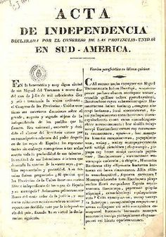 A very important historical event for Argentina is their declaration of independence on July