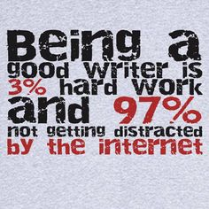 Being a writer...