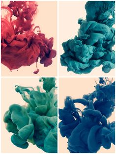 Alberto Seveso, high speed photos of ink mixing with water.