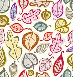 Autumn leaves seamless pattern vector by Sylverarts on VectorStock®
