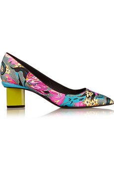 Nicholas Kirkwood Printed satin pumps | THE OUTNET