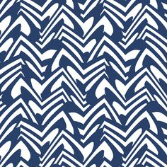 scalloped chevron in navy fabric by weavingmajor on Spoonflower - custom fabric