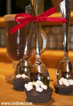 Hot Chocolate Spoon Recipe - Heat a cup of Milk then simply stir in the Hot Chocolate Spoon until fully melted and you have a creamy Hot Chocolate!  What a great gift idea!
