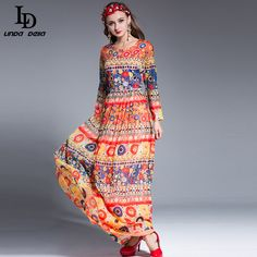 Vintage Print Elegant Mermaid Party Gown Long Dress Love it? http://www.skaclothes.com/product/ld-linda-della-2016-bodycon-sheath-designer-maxi-dress-womens-high-quality-vintage-print-elegant-mermaid-party-gown-long-dress #shop #beauty #Woman's fashion #Products