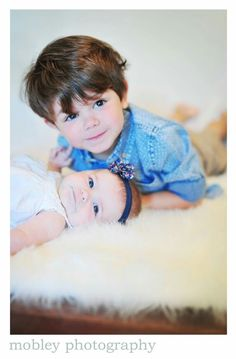 3 month photos with sibling