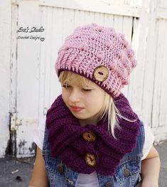 Bobble Hat And Neck Warmer Crochet Pattern - http://pinterest.com/Allcrochet