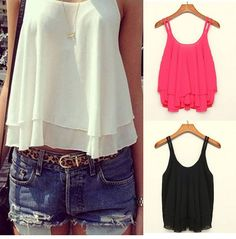 Women's Summer Clothing Sleeveless Top